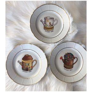 """Godinger 1855 Limoges 7.5"""" Dessert plates Set of 3"""